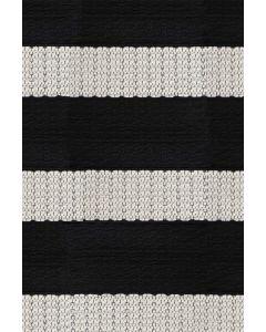 Kotimainen Domus Tasaraita-matto mustavalkoinen, eri kokoja