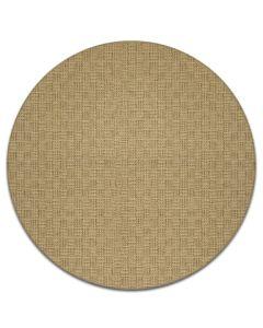 Pyöreä sisalin värinen matto