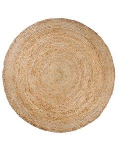 Juutti matto pyöreä, luonnonvärinen, 120 cm