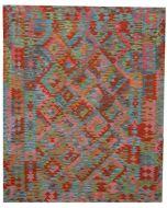 Aito matto Afghan Kelim, eri värejä ja kokoja