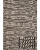 Käsinkudottu Flower-villamatto ruskea, eri kokoja