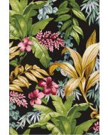 Kukkakuvioitu värikäs Zoya Gobelin matto 200x285cm